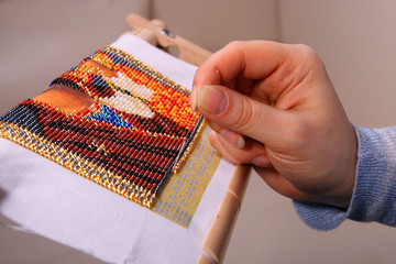 Embroidered in beads picture