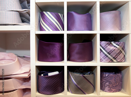 neck ties in a shop