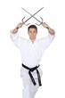 Karate Saigabeln gekreuzt