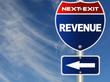 Revenue road sign