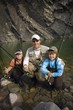 Father&Sons,Mountain Fly Fishing River, Nordegg, Alberta, Canada