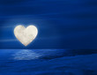 heart moon over lake - 31373147