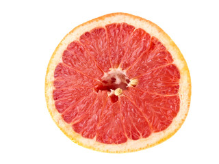 Cut of juicy grapefruit