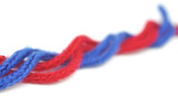 red and blue synthetic ropes poster