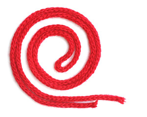 red synthetic ropes