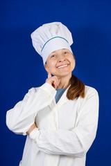 Happy female cook