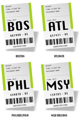 Airport tag bags - USA