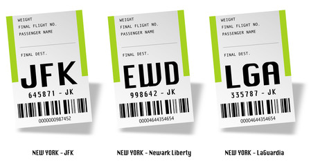 Airport tag bags - New York