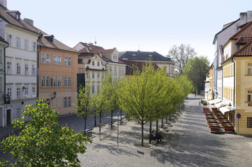 Kampa Island from Charles Bridge In Prague Czech Republic