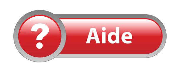 """Bouton Web """"AIDE"""" (service clients support en ligne assistance)"""