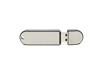 flash drive closeup on white background