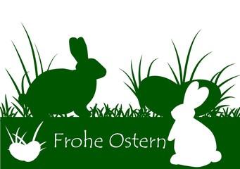 Osterhasen grün weiß