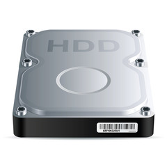 Hard disk drive (HDD), vector EPS 8.