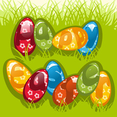 colorful Easter eggs 3. Colorful vector illustration