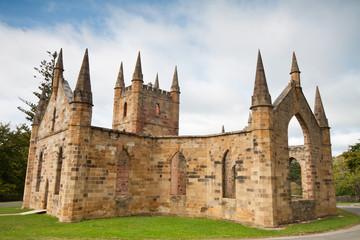 ruins of church in port arthur historic jail