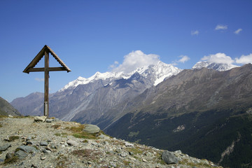 Hiking, Alps, Monte Rosa