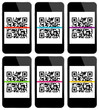 Smartphone QRCode Scan 6 Colours