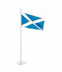 3D flag of Scotland