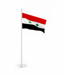 3D flag of Syria