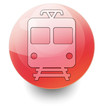 "Red Shiny Orb Button ""Train / Mass Transit"""