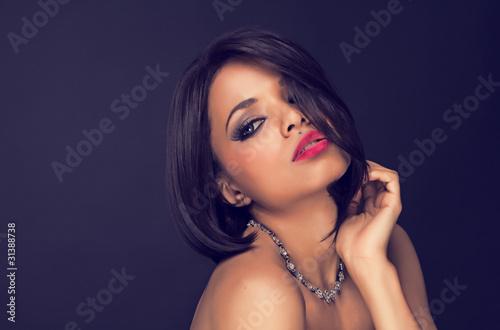 sexy brunette elegant
