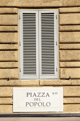 Piazza del Popolo nameboard