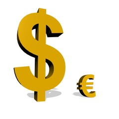 Big dollar and small euro