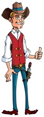 Cartoon cowboy with a gun belt