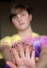 Missing You Finger Message
