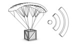 parachute box  with wireless sign poster