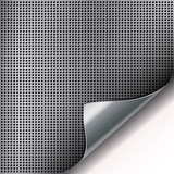 Round cell metal background with curved corner.