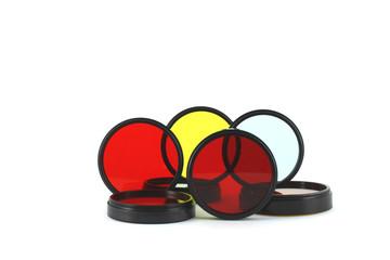 Filter for lenses over white