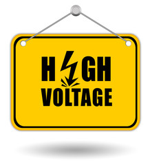 High voltage signboard
