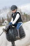 Horse riding - little girl stunt riding poster
