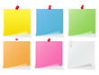 Vector post-it notes
