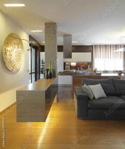 Angolo di moderno lussuoso soggiorno con cucina a vista immagini e fotografie royalty free su - Soggiorno con cucina a vista ...