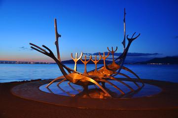 Shining Solfar Suncraft Sculpture, Reykjavik, Iceland