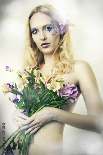 Fashion portrait of beautiful woman. Fairy