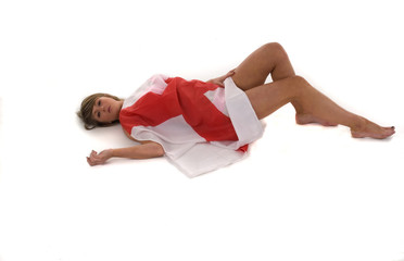 England Supporter Lying Down