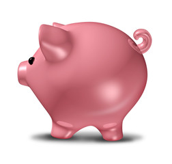 Piggybank isolated savings symbol
