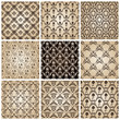 seamless vintage backgrounds set brown baroque wallpaper