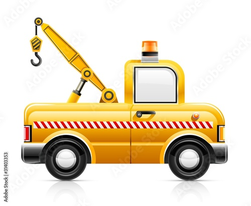 wrecker car service vector