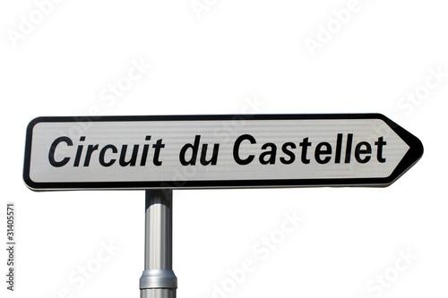 panneau indicateur du 39 circuit du castellet 39 de jackin photo libre de droits 31405571 sur. Black Bedroom Furniture Sets. Home Design Ideas