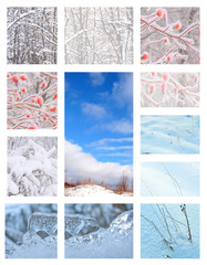 : WINTER VIEWS IN COLLAGE