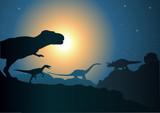 Fototapety Paysage_Dinosaure_2