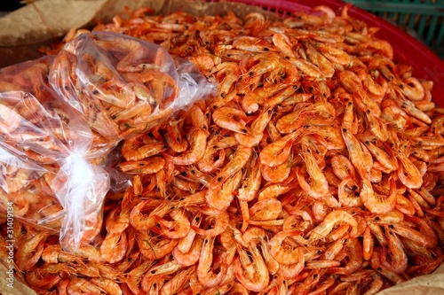 chiapas dried shrimp seafood market Mexico