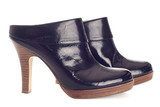 Pair of black ankle boots poster