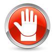 Verbotszeichen - Button