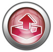 "Red glossy 3D effect button ""Upload"""