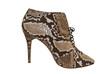 Zapato de piel de serpiente